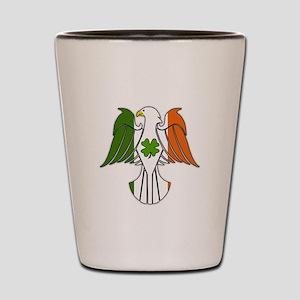 Irish American Eagle (sc) Shot Glass