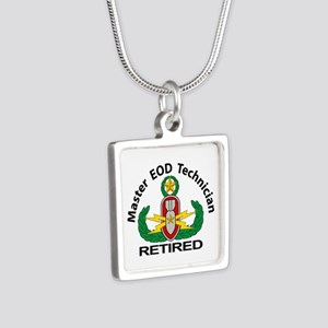 Retired Master EOD Silver Square Necklace