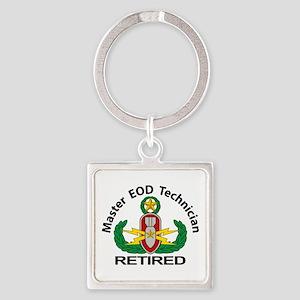 Retired Master EOD Square Keychain