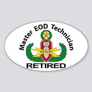Retired Master EOD Sticker (Oval)