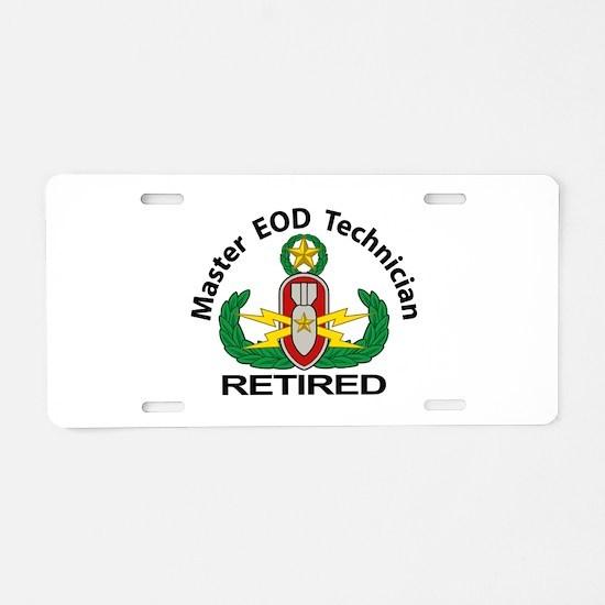 Retired Master EOD Aluminum License Plate