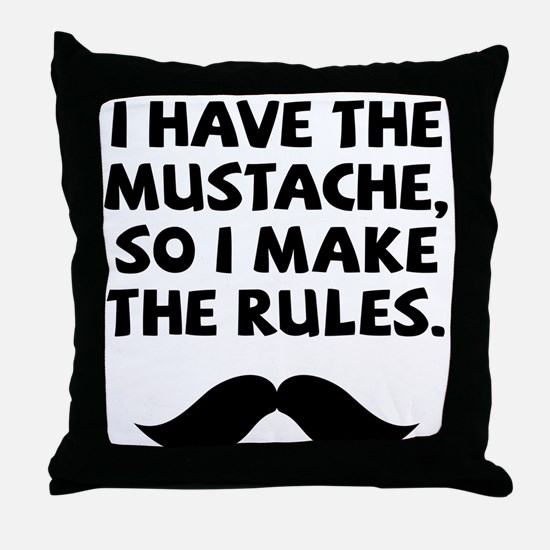 Mustache Rulesv Throw Pillow