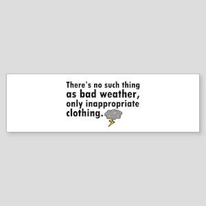 'Bad Weather' Sticker (Bumper)
