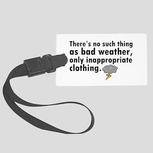 'Bad Weather' Large Luggage Tag