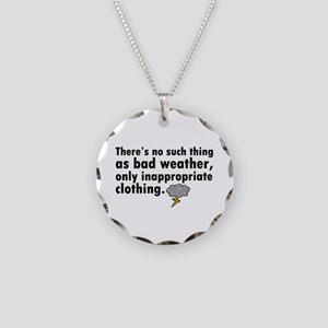 'Bad Weather' Necklace Circle Charm