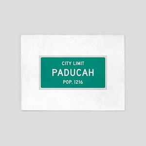 Paducah, Texas City Limits 5'x7'Area Rug