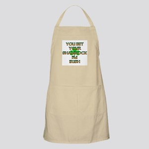 You Bet Your Shamrock I'm Irish BBQ Apron