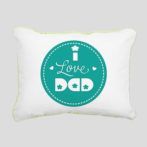 I love Dad Rectangular Canvas Pillow