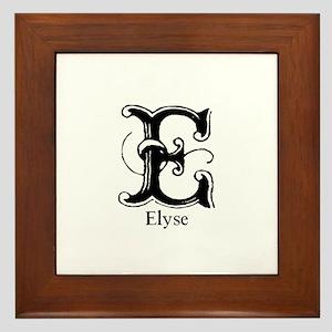 Elyse: Fancy Monogram Framed Tile