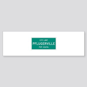 Pflugerville, Texas City Limits Bumper Sticker