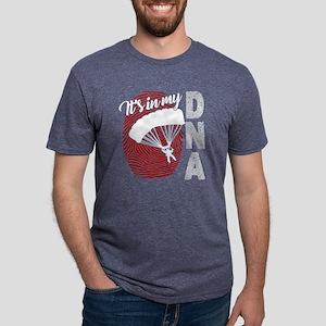 SKYDIVING IN MY DNA SHIRT Mens Tri-blend T-Shirt