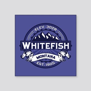 "Whitefish Logo Midnight Square Sticker 3"" x 3"""