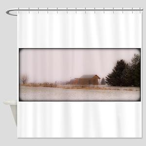 020213-42 PRAIRIE WINTER FANTASY Shower Curtain