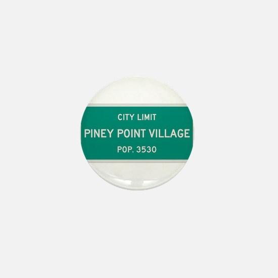 Piney Point Village, Texas City Limits Mini Button