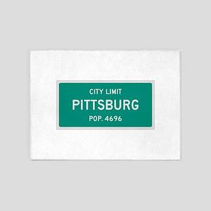 Pittsburg, Texas City Limits 5'x7'Area Rug