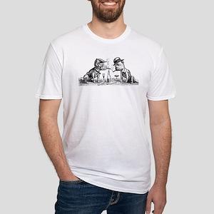 Cigar Smoking Bulldogs Fitted T-Shirt