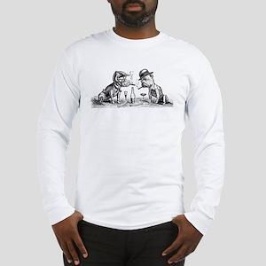 Cigar Smoking Bulldogs Long Sleeve T-Shirt