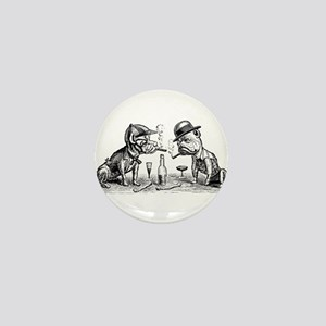 Cigar Smoking Bulldogs Mini Button