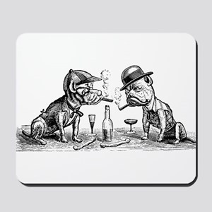 Cigar Smoking Bulldogs Mousepad