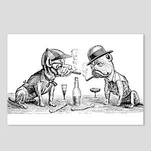 Cigar Smoking Bulldogs Postcards (Package of 8)