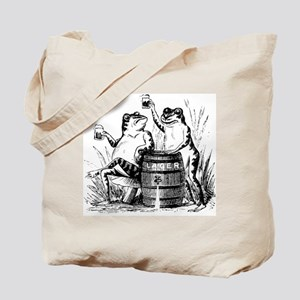 Beer Drinking Frogs Tote Bag