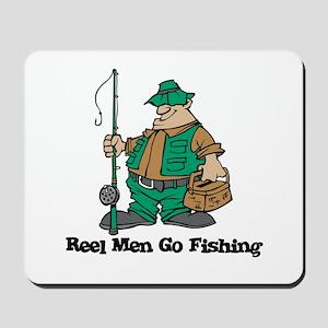 Reel Men Go Fishing Mousepad