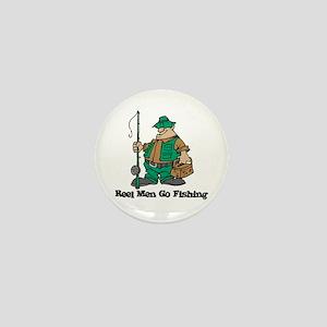 Reel Men Go Fishing Mini Button