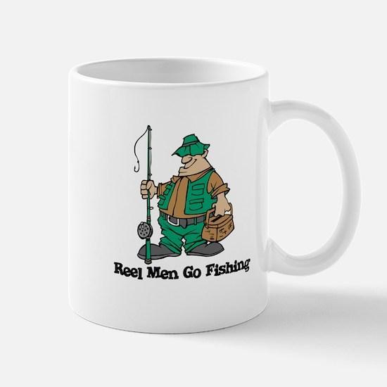 Reel Men Go Fishing Mug