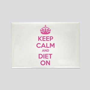Keep calm and diet on Rectangle Magnet