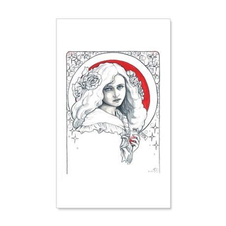 Alice Nouveau Wall Decal