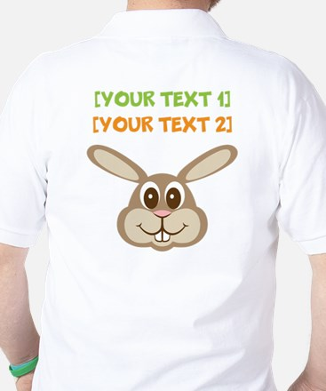 PERSONALIZE Easter Bunny Golf Shirt