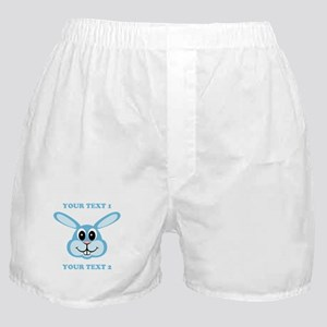 PERSONALIZE Blue Bunny Boxer Shorts