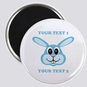 PERSONALIZE Blue Bunny Magnet