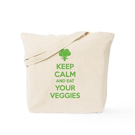 Keep calm and eat your veggies Tote Bag