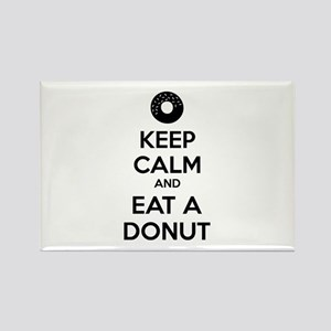 Keep calm and eat a donut Rectangle Magnet