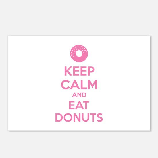 Keep calm and eat donuts Postcards (Package of 8)