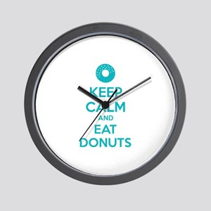 Keep calm and eat donuts Wall Clock