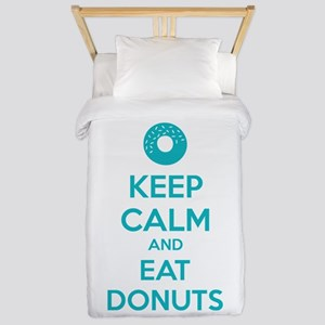 Keep calm and eat donuts Twin Duvet