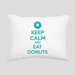 Keep calm and eat donuts Rectangular Canvas Pillow