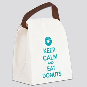 Keep calm and eat donuts Canvas Lunch Bag