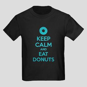 Keep calm and eat donuts Kids Dark T-Shirt