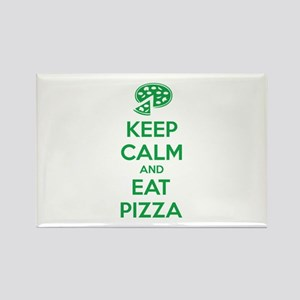 Keep calm and eat pizza Rectangle Magnet