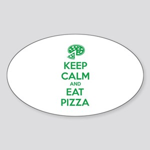 Keep calm and eat pizza Sticker (Oval)