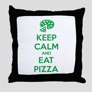 Keep calm and eat pizza Throw Pillow