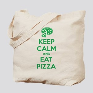 Keep calm and eat pizza Tote Bag