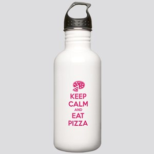 Keep calm and eat pizza Stainless Water Bottle 1.0