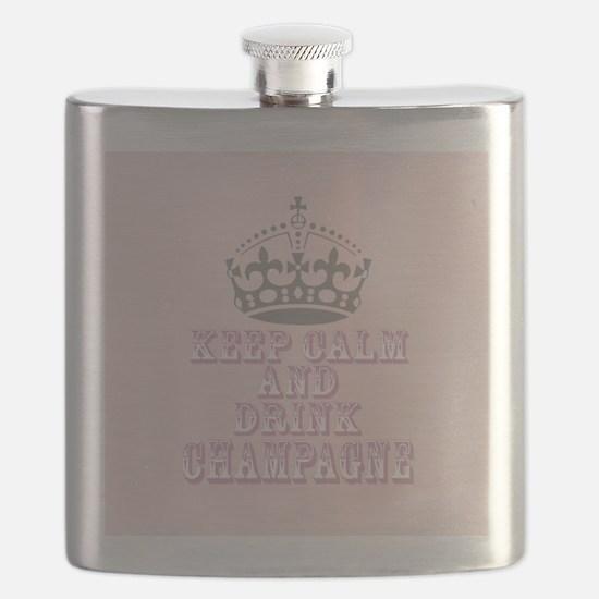 Keep Calm- Drink Champagne Flask