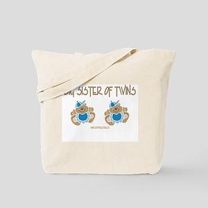 Big Sister Of Twins (2 Boys) Tote Bag