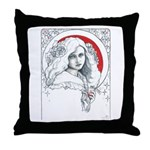 Alice Nouveau Throw Pillow
