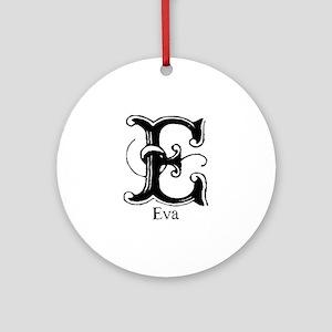 Eva: Fancy Monogram Ornament (Round)